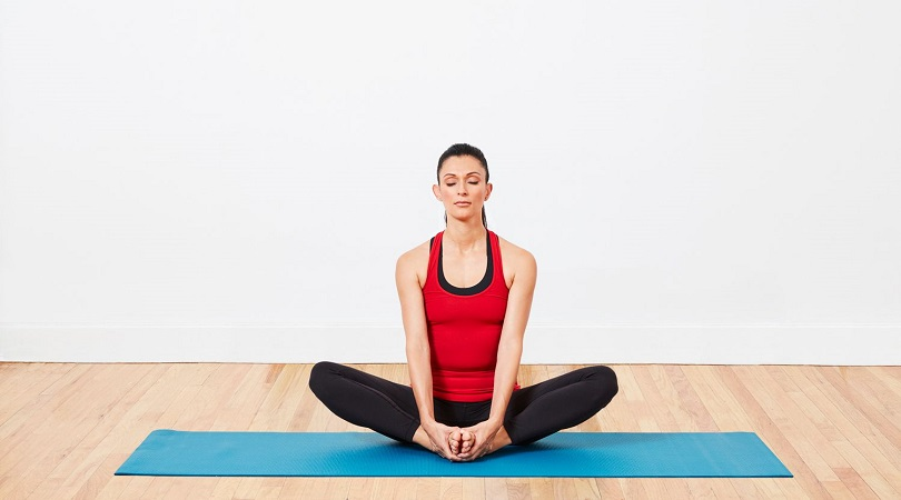 cobbler pose of yoga for toned body
