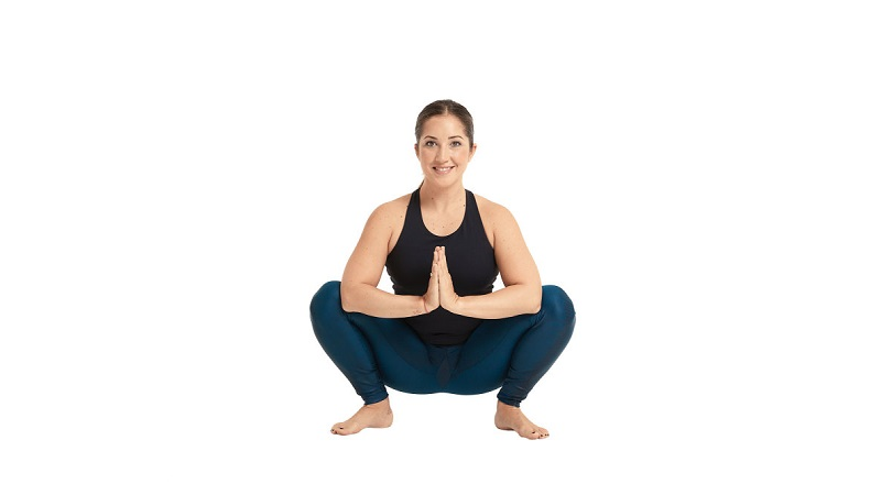 garland yoga pose for weight loss and toned body