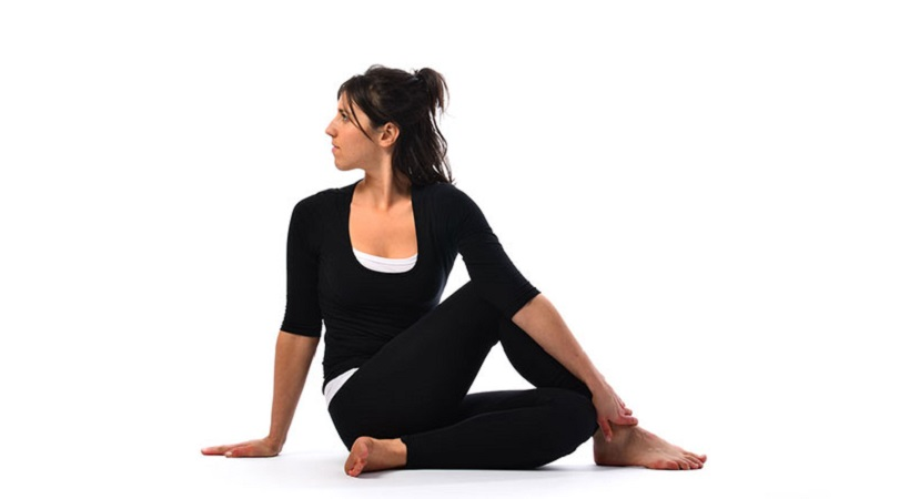 half spinal twist yoga poses for weight loss
