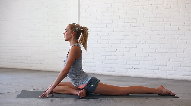 pigeon pose for body fitness