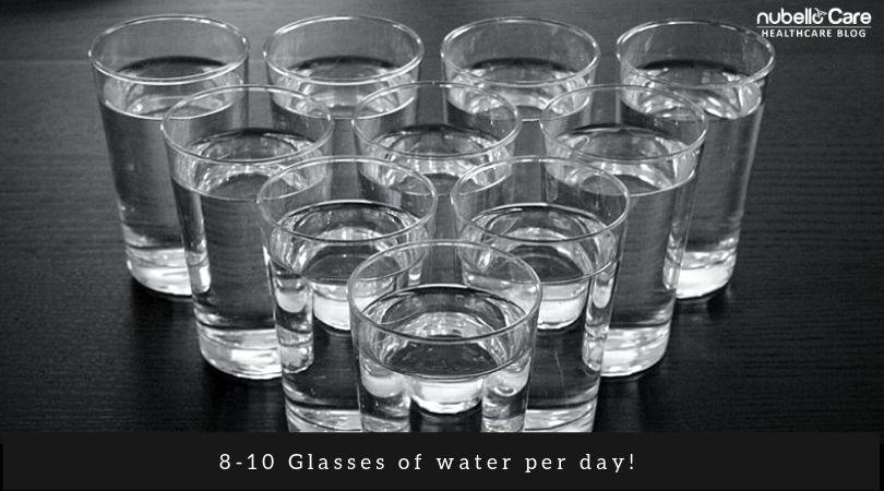 face fat loss - 8 glasses water per day