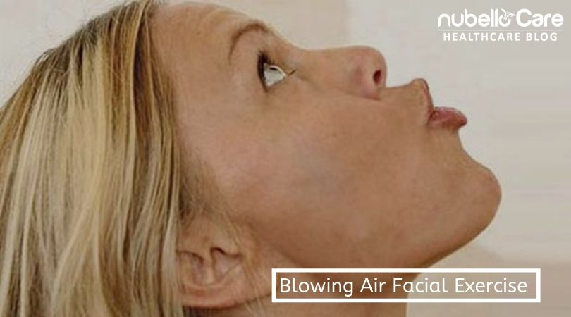 Blowing air exercise for face fat loss