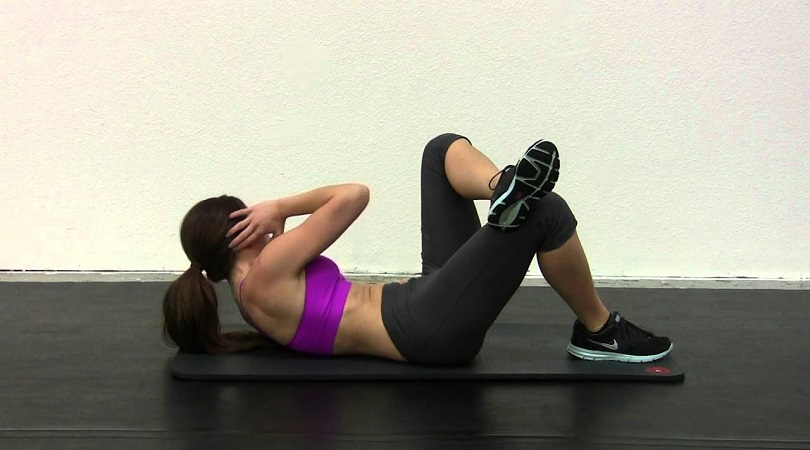 cross body crunch for fat loss belly