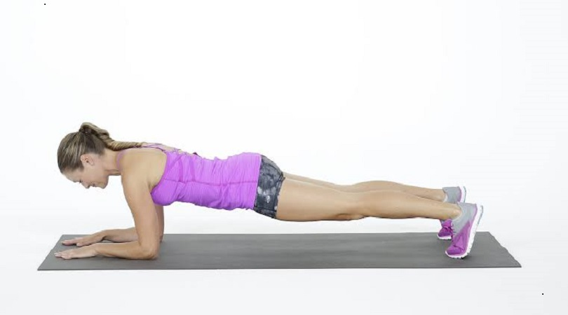 burn belly fat with plank